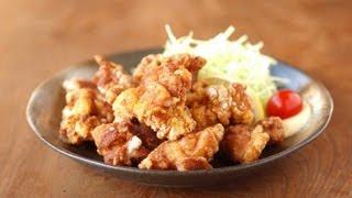 2度揚げでジューシーに仕上げた鶏唐揚げです。 鶏もも肉の下処理で軽く...