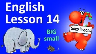 English Lesson 14 - They're big. Adjectives. Phonics TH sound.