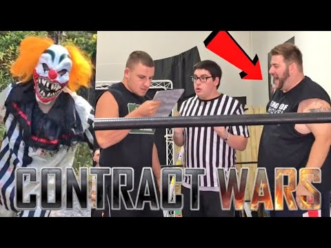 CREEPY CLOWN FOLLOWED HIM HOME! CONTRACT SIGNING MELTDOWN! GTS WRESTLING SUPERCARD EVENT!