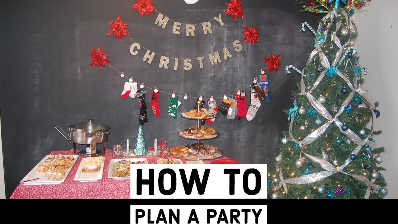 how to plan an amazing christmas party youtube