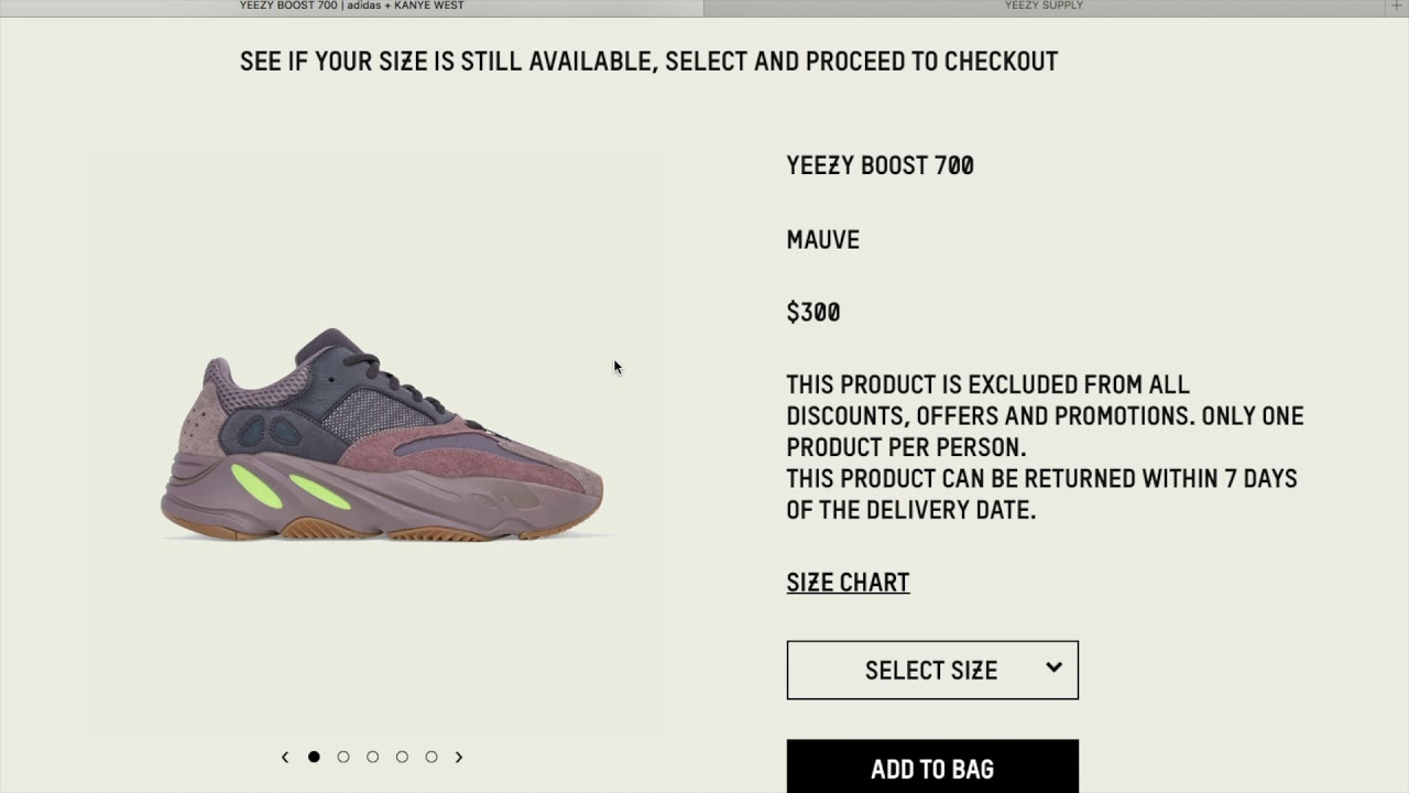 8a6face83c39e Kanye West Adidas Yeezy Boost 700 Mauve Drop Today + Dead Resell Value! 10  27 18