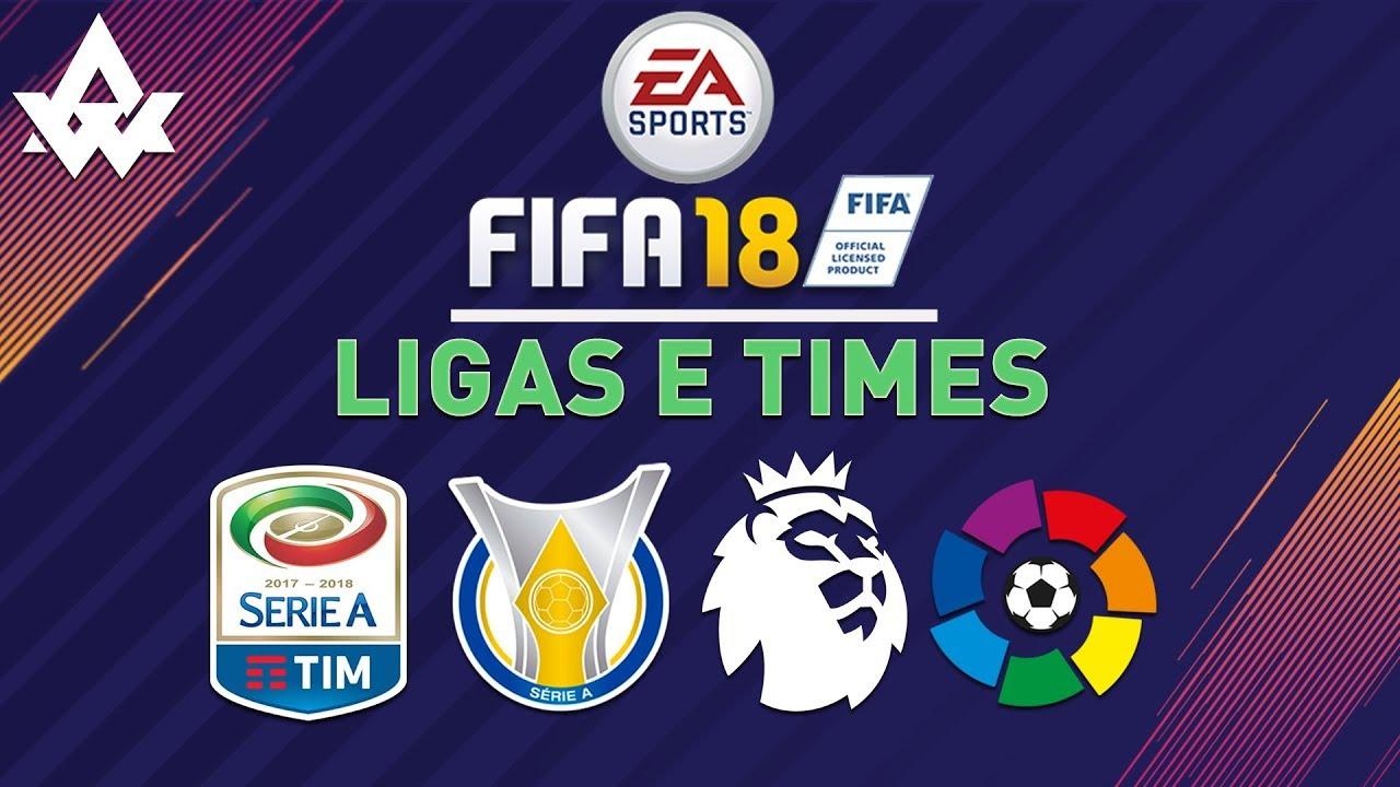 FIFA 18 Ligas e times