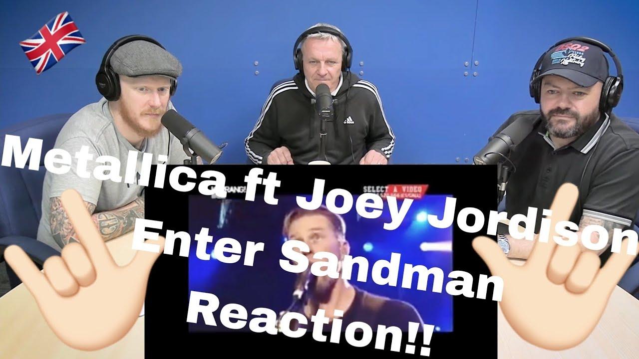 Metallica ft. Joey Jordison - Enter Sandman REACTION!! | OFFICE BLOKES REACT!!