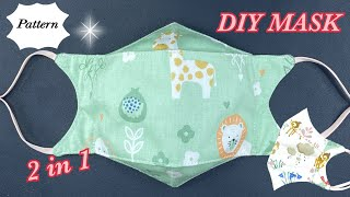 DIY Breathable Face Mask 2 in 1 Easy Pattern Sewing Tutorial Best Fit Beautiful Face Mask