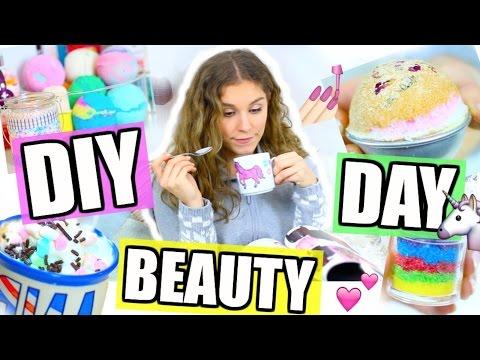 DIY BEAUTY DAY + ROUTINE! Badebomben, Einhorn-Tasse, Regenbogen-Peeling! ♡ BarbieLovesLipsticks