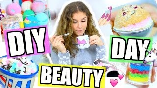 DIY BEAUTY DAY + ROUTINE! Badebomben, Einhorn-Tasse, Regenbogen-Peeling! ♡ BarbieLovesLipsticks