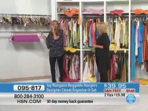 Joy Mangano Huggable Hangers Designer Closet Organize It Set   YouTube
