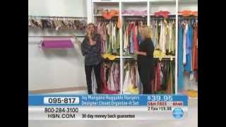 Joy Mangano Huggable Hangers Designer Closet Organize-it Set