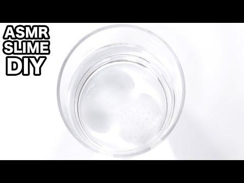【ASMR】クリアスライムの作り方【音フェチ】DIY Clear Slime【SlimeTube】