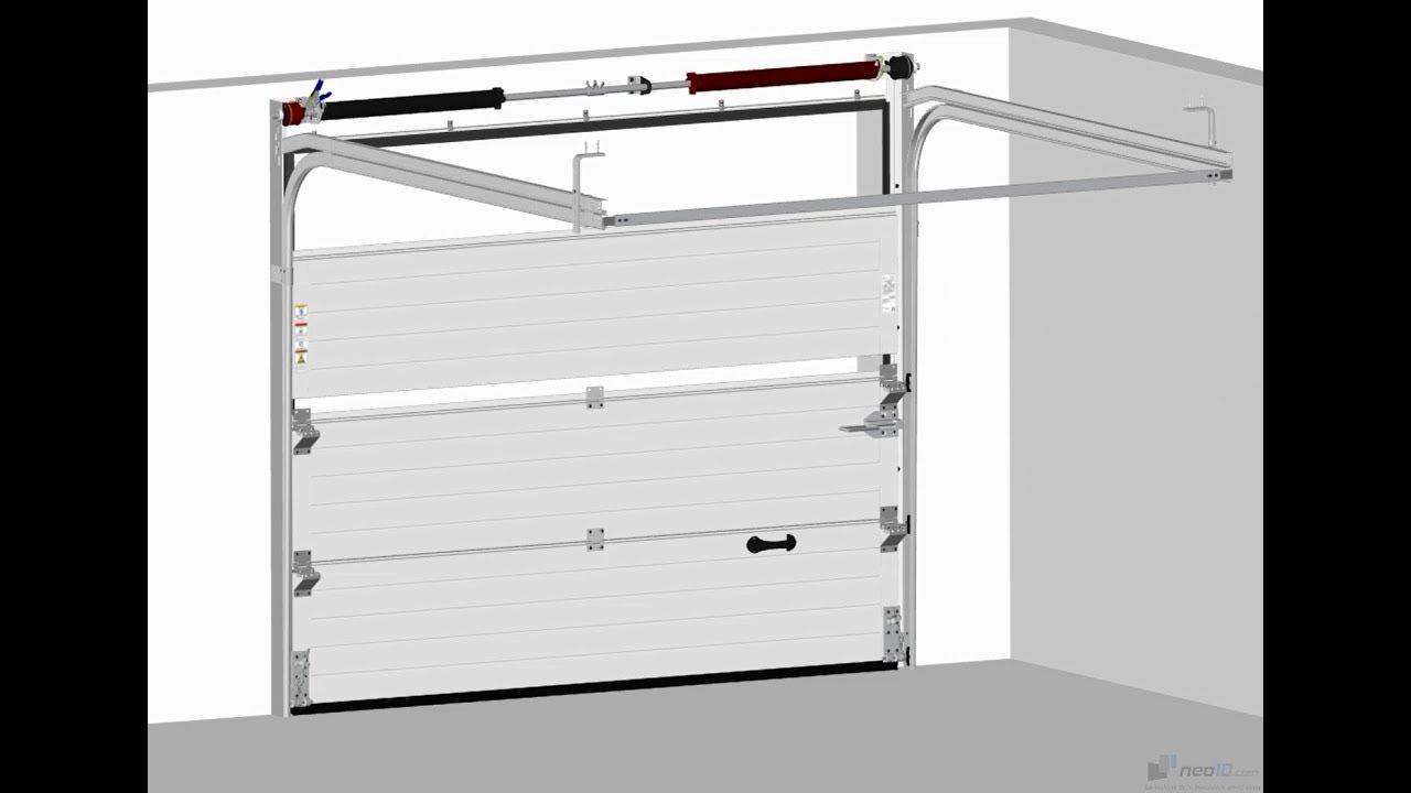 Montage Porte De Garage Sectionnelle Neo10 Com Youtube