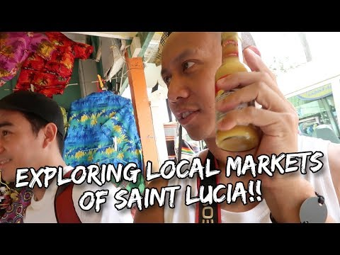 BARGAINING LIKE A SAINT LUCIAN AT THE LOCAL MARKETS | Vlog #