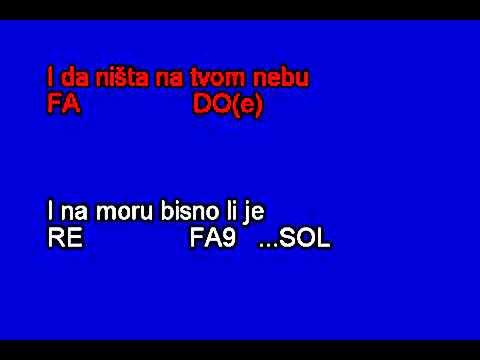 Karaoke Oliver Dragojevic - Galeb I Ja / Moj Galebe (in C)