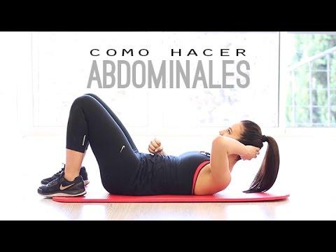 Como hacer las abdominales youtube for Abdominales