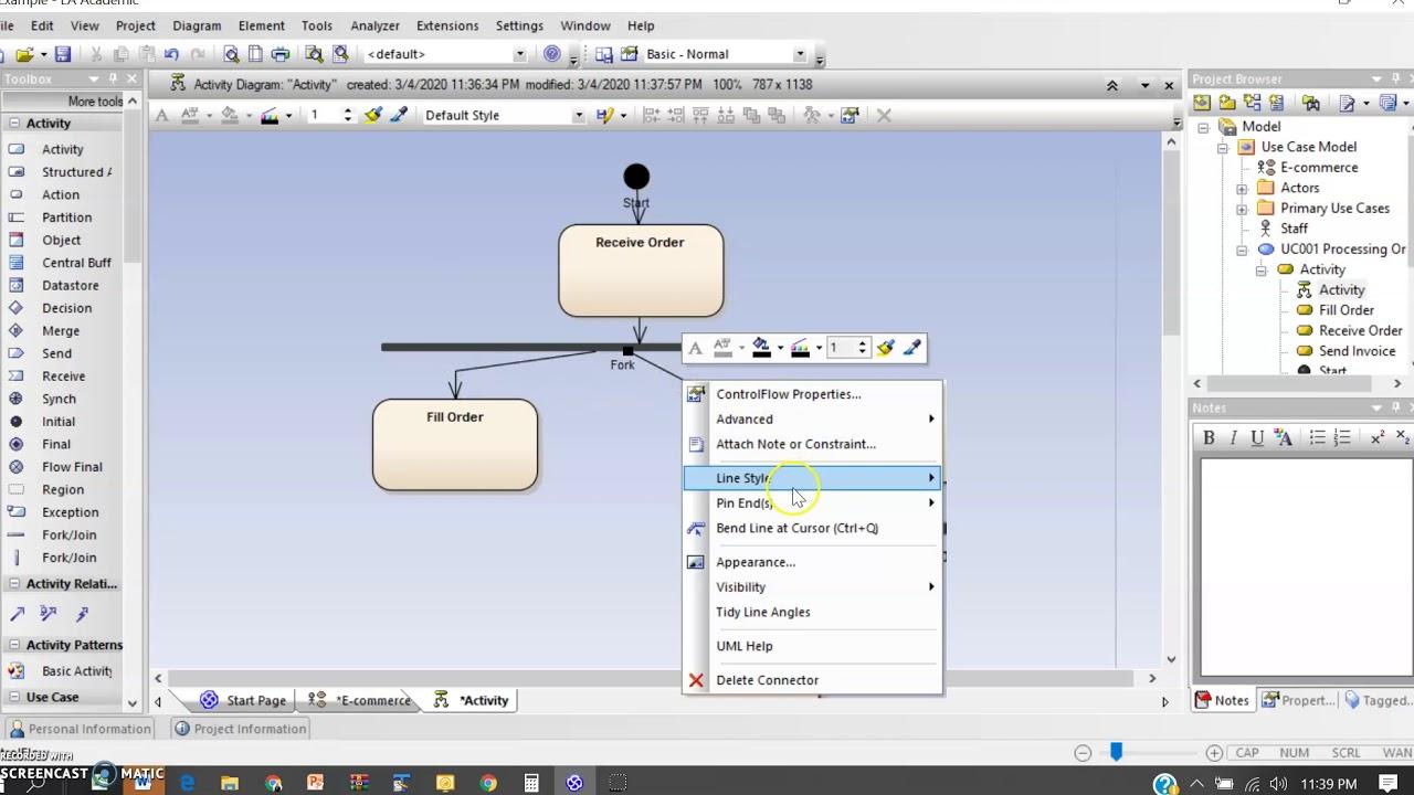 Enterprise Architect - Use Case and Activity Diagram - YouTube