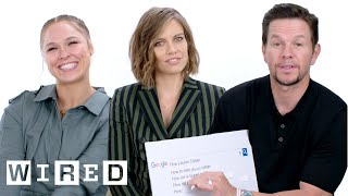 Mark Wahlberg, Ronda Rousey and Lauren Cohan Answer the Web\'s Most Searched Questions | WIRED