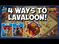 Gambar cover 4 WAYS to DESTROY with LavaLoon! TH10 attack strategy | CLASH OF CLANS