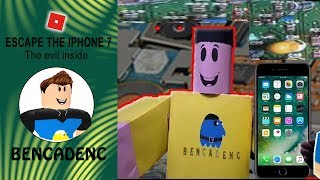 ROBLOX LET'S PLAY ESCAPE THE IPHONE 7 OBBY   BENCADENC GAMES