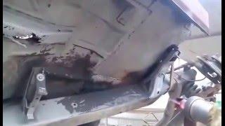 видео Пескоструйная обработка днища автомобиля