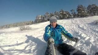 Зимние приключения SKY 2016. Три белых коня.