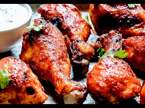 SWEET AND SPICY CHICKEN DRUMSTICK RECIPE/ HOW TO MAKE CHICKEN LEGS ROAST RECIPE