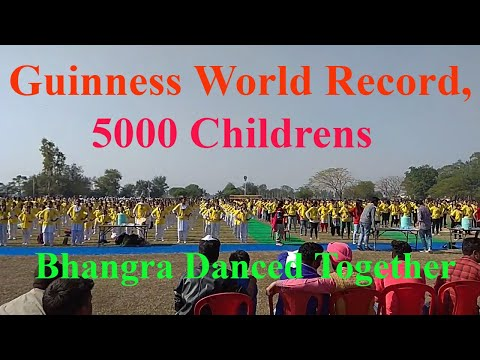 Guinness World Record Bhangra, 5000 Childrens Bhangra Danced