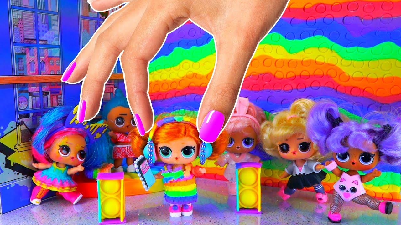 День рождения Скейти в стиле ПОП ИТ! 10 Лайфхаков и поделок для Куклы ЛОЛ сюрприз! Сериал лол