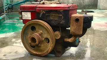Restoration old D8 diesel engine | Restore and reuse old and rusty D8 diesel engines