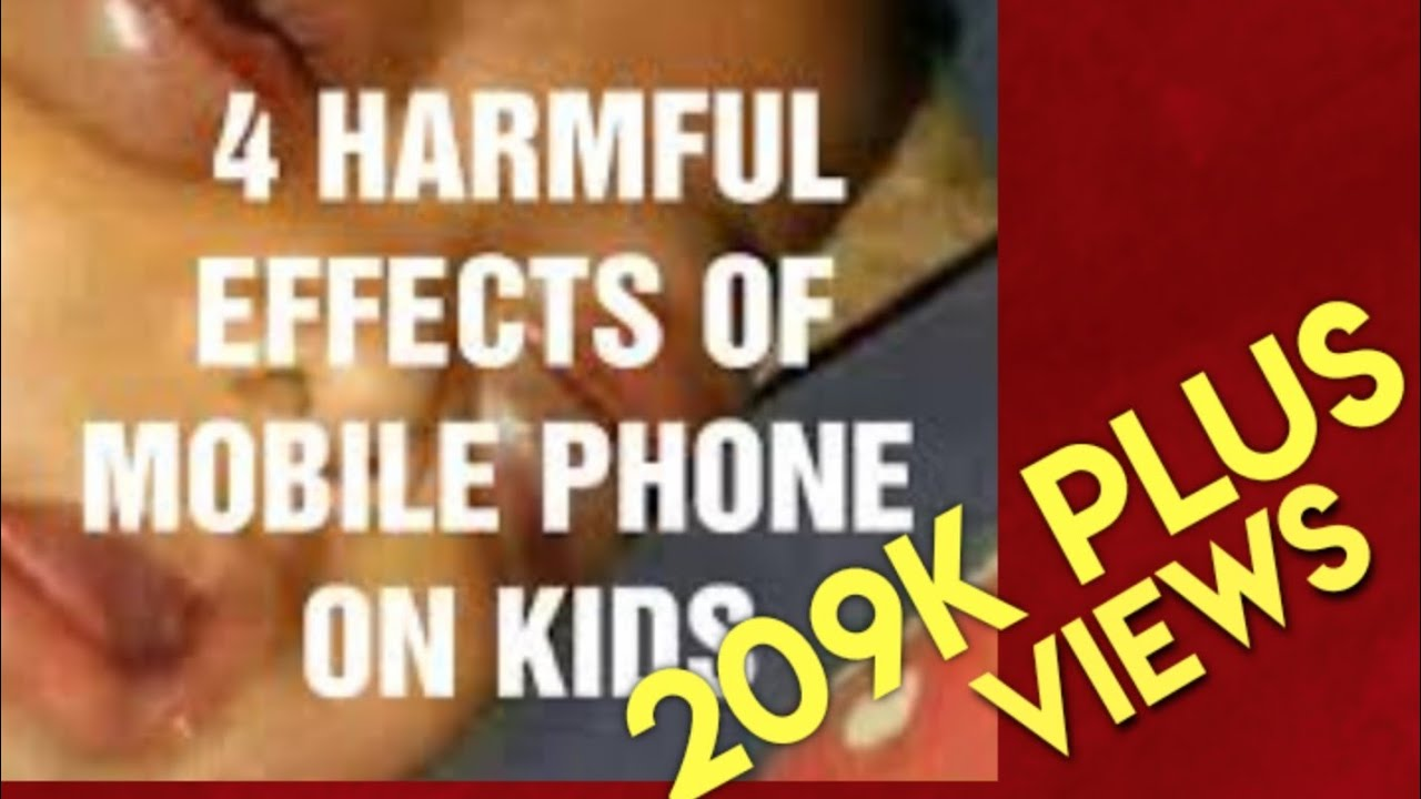 Harmful Effects Of Mobile Phones On Kids by Dr V Sunilraj
