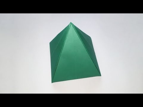 How to Make Paper Pyramid - Easy Origami Pyramid - DIY Paper Crafts