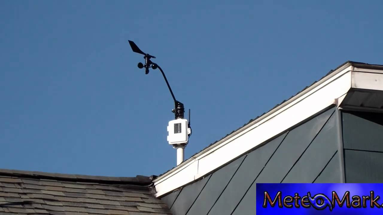 davis vantage pro2 weather station iss anemometer and solar raditation sensor youtube. Black Bedroom Furniture Sets. Home Design Ideas