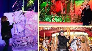 Новый год в КИЕВЕ 2017: ледовые скульптуры ВДНХ, Софийская площадь и КАРУСЕЛИ. Christmas vlog