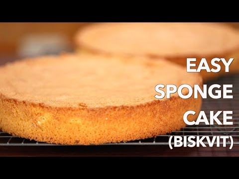 Easy European Sponge Cake Recipe with only 4 Ingredients!