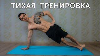 постер к видео ТИХАЯ ТРЕНИРОВКА ДЛЯ ДОМА! Упражнения на все тело!   neofit 76