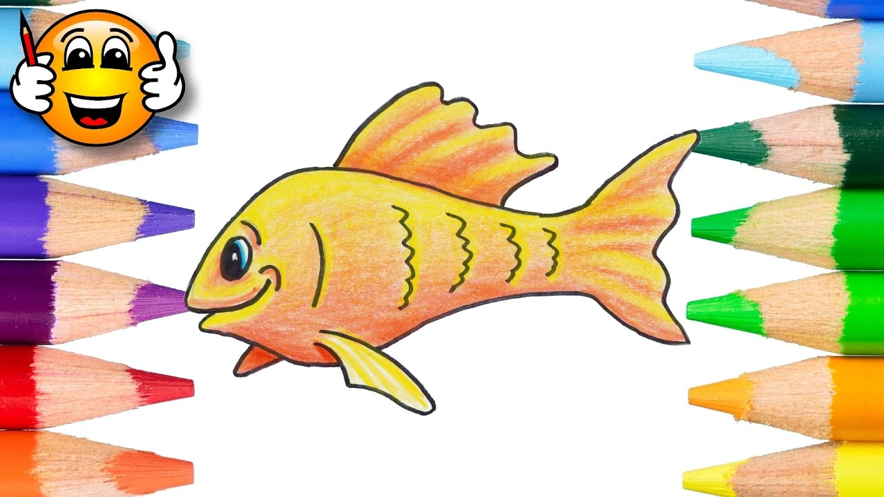 Coloring Pages for Kids Goldfish | Coloring Book Videos | Bibabibo ...