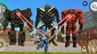 Superhero and All Transformers Attack On Rope Hero | rope hero vice town | rope hero, rope hero game screenshot 5