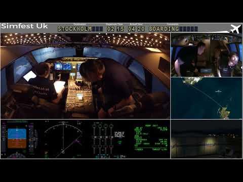 Worldflight 2017: Leg 31 Aberdeen to Stockholm Boeing 747-400 Home Simulator