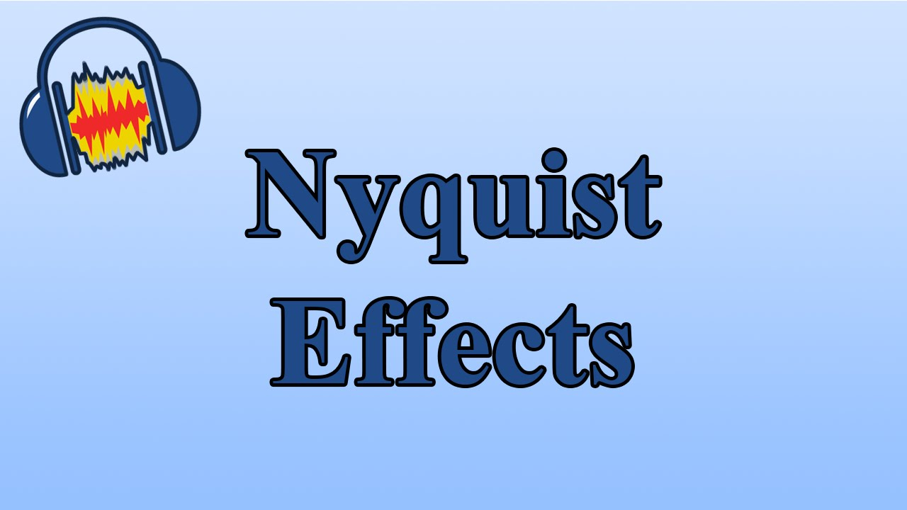 Adding Nyquist Effects to Audacity