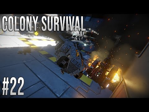 Space Engineers - Colony Survival Ep #22 - DRONE CRASH!!