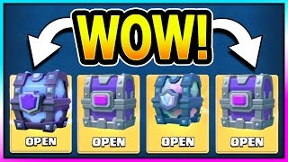 INSANE LEGENDARY LUCK! OPENING ALL BEST CHESTS!! Super Magical & Legendary Chest in Clash Royale