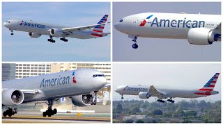 [4K] 4 AMERICAN AIRLINES BOEING 777 ARRIVALS AND DEPARTURES AT LAX - PLANE SPOTTING - AUGUST 2019