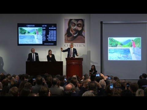 AFP news agency: Hockney sells for $90mn, sets living artist record