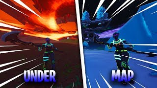6 *NEW* UNDER THE MAP GLITCHES IN FORTNITE SEASON 8 - UNDER POLAR PEAK/VOLCANO/LAZY LAGOON & MORE