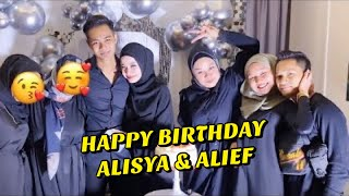 Surprise Birthday Alisya & Alief Irfan - Bella berlaku JUJUR hubungan sebelum KAHWIN?