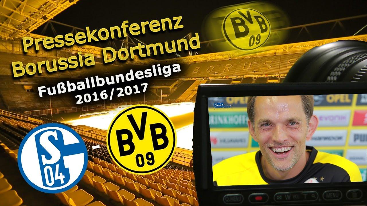 FC Schalke 04 - Borussia Dortmund: Pk mit Thomas Tuchel