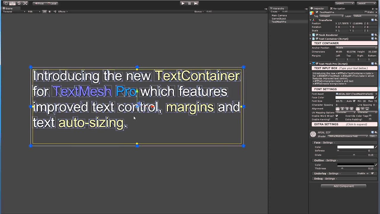 TextMesh Pro - Advanced Text Rendering for Unity - Beta now