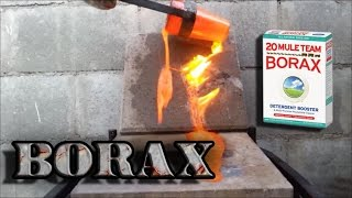 Molten Borax Lava And Glass Melting In Propane Furnace Experiment
