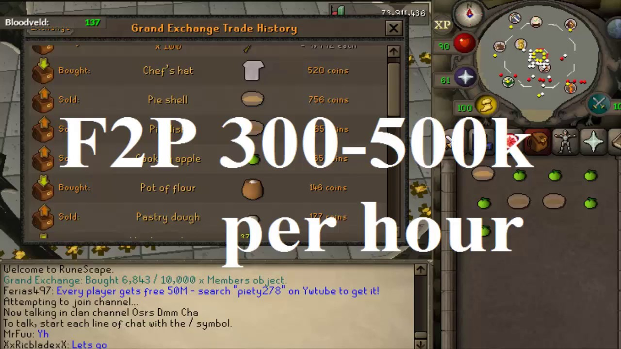 OSRS Free to play money making guide 2018 - YouTube