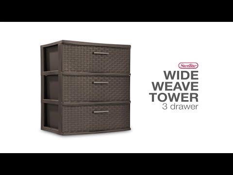 sterilite-3-drawer-wide-weave-tower