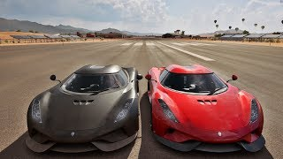 Racha De Ré A Mais De 430 km/h De Koenigsegg Regera - Forza Horizon 3 Online - GoPro