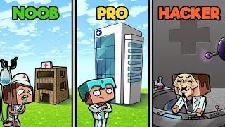 Minecraft - HOSPITAL CHALLENGE! (NOOB vs PRO vs HACKER)